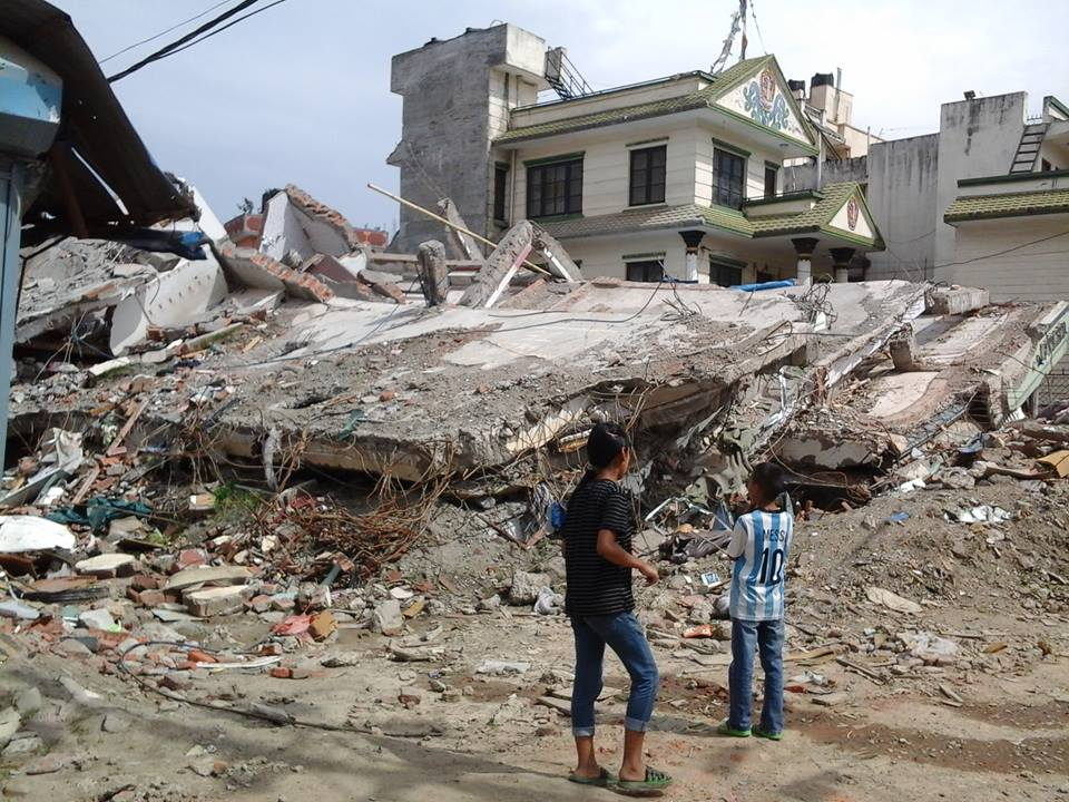 Nepali Collapsed Building